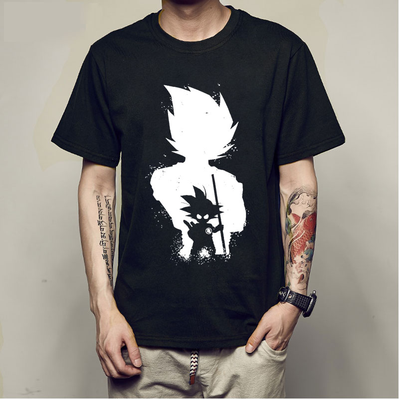 Anime Dragon Ball Z Vegeta Super Saiyan Goku Piccolo 3D   T     Shirt   Men Costume casual Tee   T  -  Shirt   Men camiseta