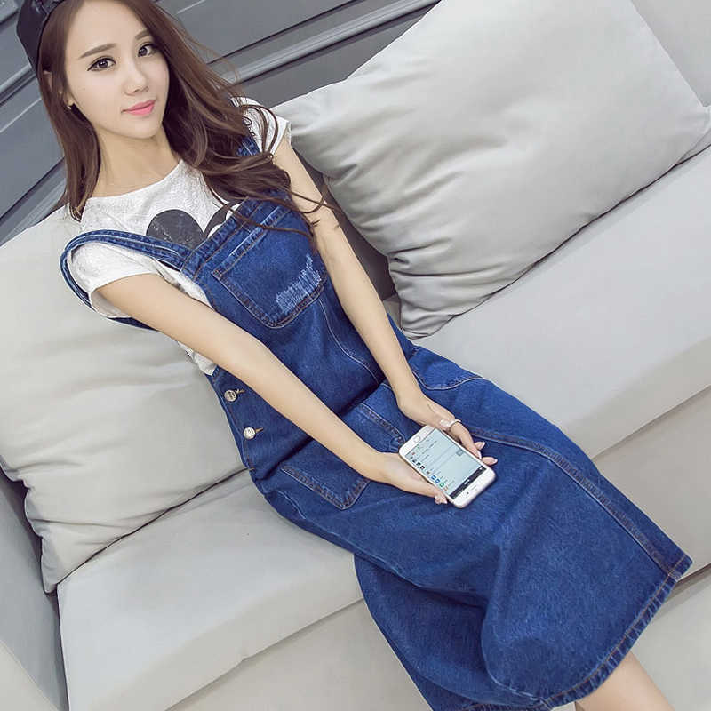 2019 повседневное джинсовое платье новое летнее сексуальное джинсовое свободное повседневное длинное джинсовое платье с ремнем синие комбинезоны джинсовое платье