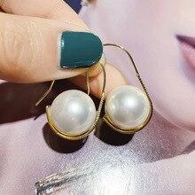Korean Creative U Shaped Simulated Pearl Earrings For Women 2019 New Simple Earring Fashion Jewelry