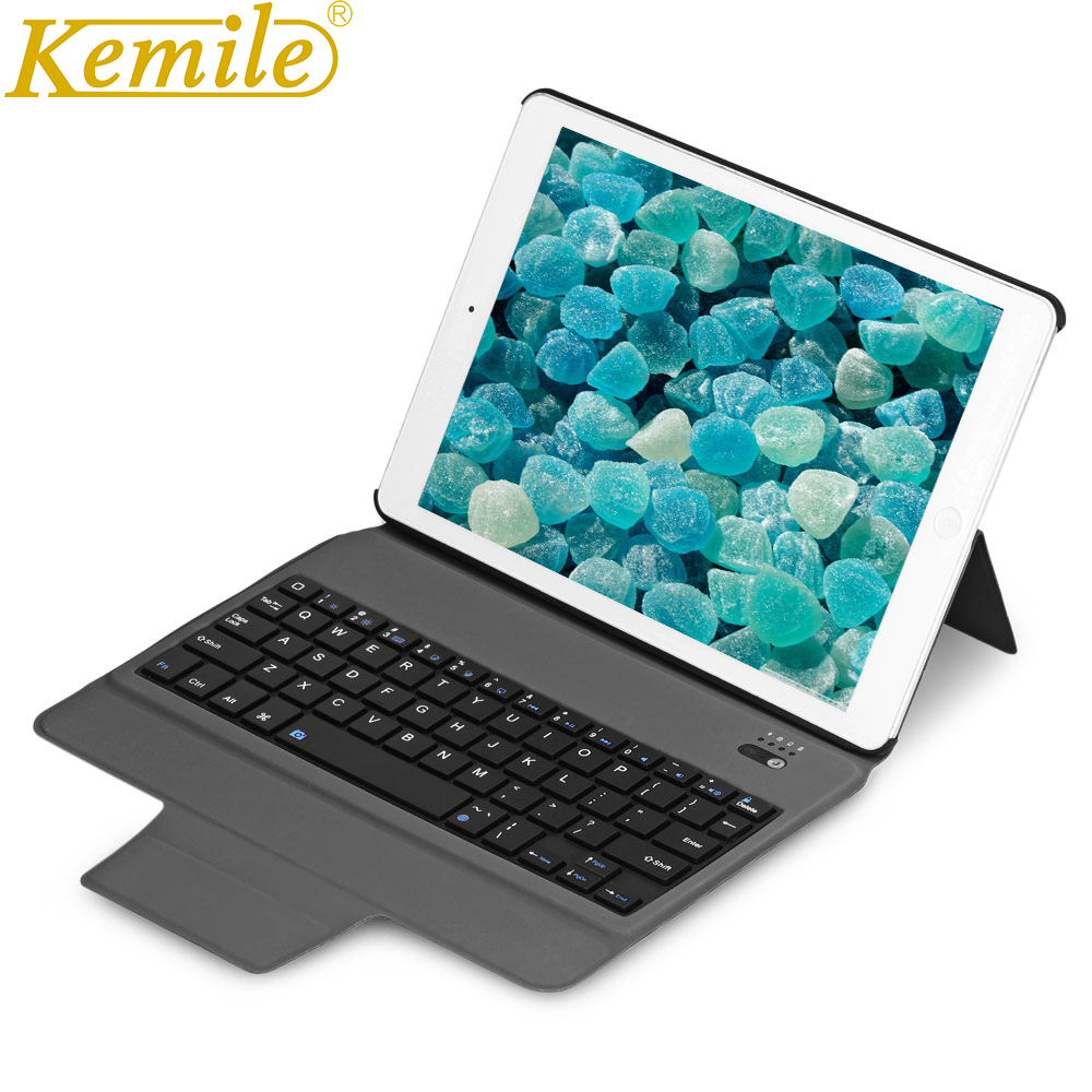 kemile Ultra Slim Magnetic Holder Leather Case Cover Bluetooth Keyboard For iPad Mini 4 Tablet Keypad klavye +Gift bluetooth keyboard case for ipad 2018 9 7 w ultra slim stand leather cover for ipad 2017 pro 9 7 air 1 2 tablet keypad klavye