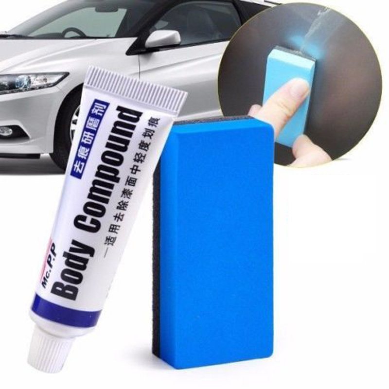 Car Compound Paste With Sponge Scratch Repair Assistance Remover Useful Vehicle Body Paint Care