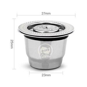 Image 3 - 2 في 1 استخدام Recargables القهوة تصفية الفولاذ المقاوم للصدأ نسبرسو الملء كبسولة 3 قطعة + 120 الأختام قابلة لإعادة الاستخدام ل Essenza Mini