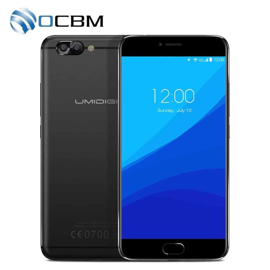 Цена за Оригинал Umidigi Z Pro 4 Г LTE Мобильный Телефон MTK Helio X27 дека Core 5.5 ''FHD Android 6.0 4 ГБ RAM 32 ГБ ROM 1920x1080 Двойная камера