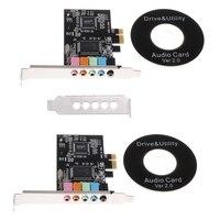 PCI-E аудио цифровая звуковая карта 5,1 твердые конденсаторы CMI8738 чипсет + барьер