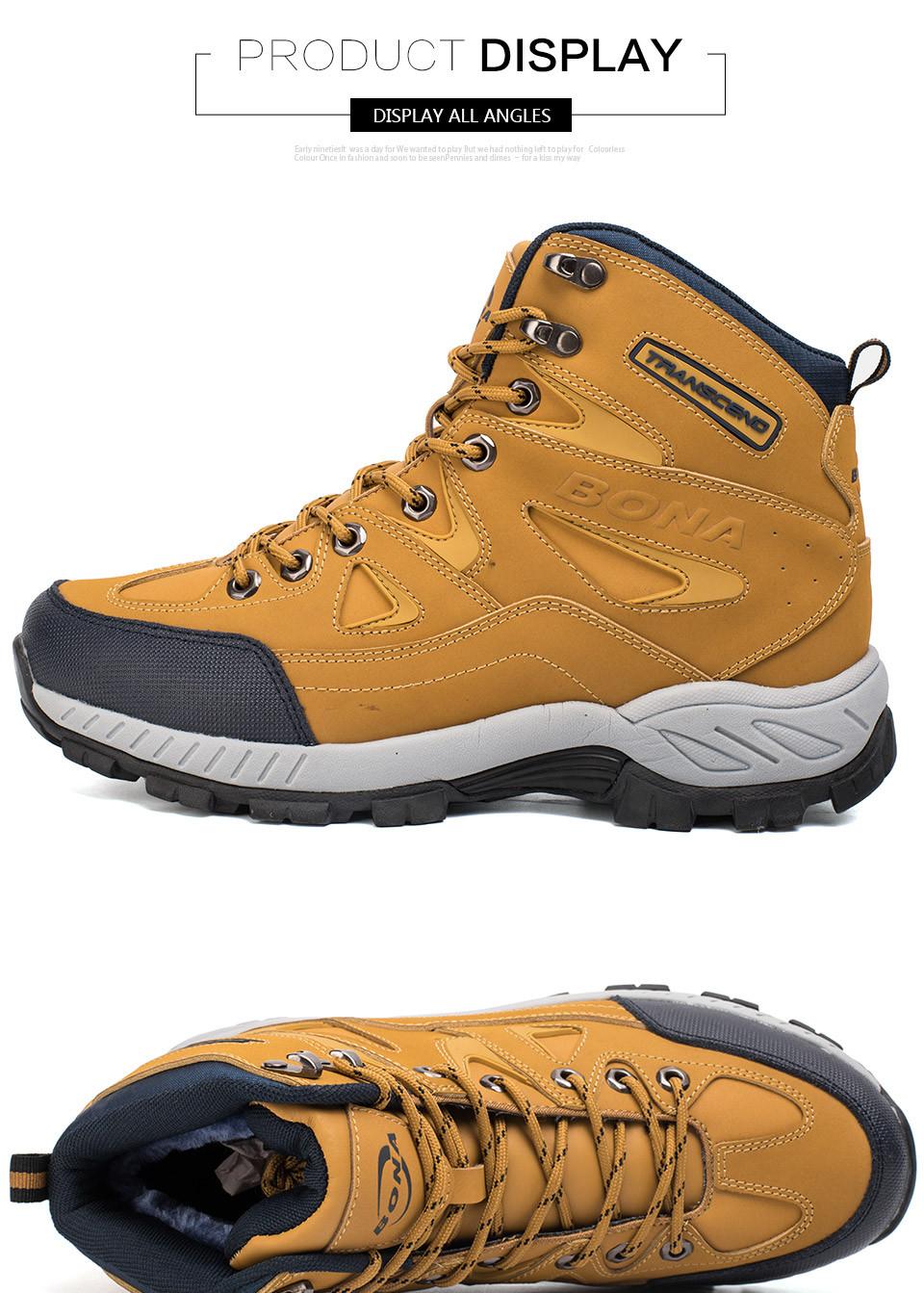 BONA Men Hiking Shoes Anti-Slip 9