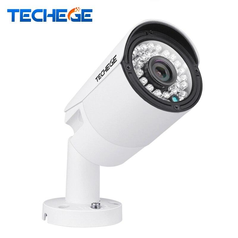 Techege 2MP POE IP Caméra HD Vision Nocturne Imperméable À L'eau IP66 extérieure P2P ONVIF 2.0 Détection de Mouvement Xmeye 1.3MP 1.0MP IP caméra