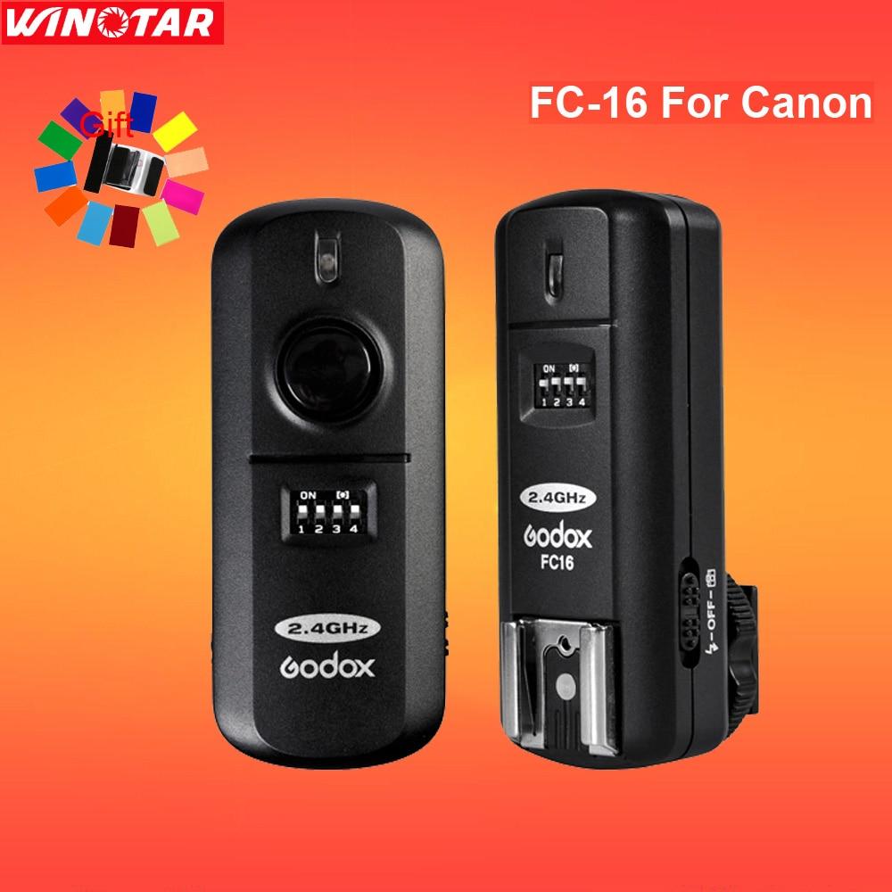 Godox FC-16 16 Channels 2.4G Wireless Remote Flash Trigger Studio Strobe for Canon 800D 760D 750D 700D 650D 600D 80D 70D 60D