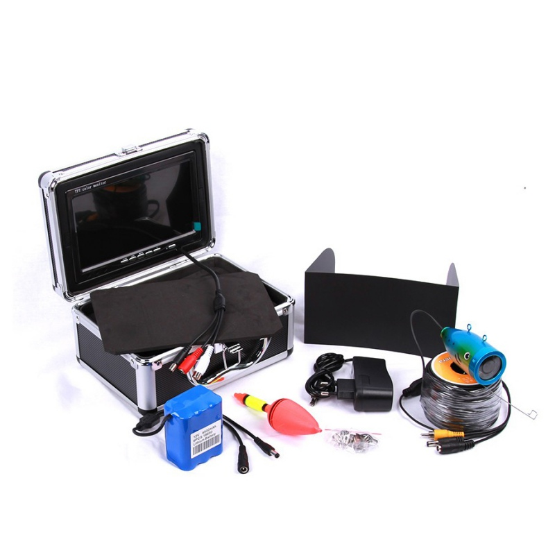 30M Cable With 7 Inch Color Monitor HD 1000TVL Portable Night Vision Visual Fish Finder Underwater