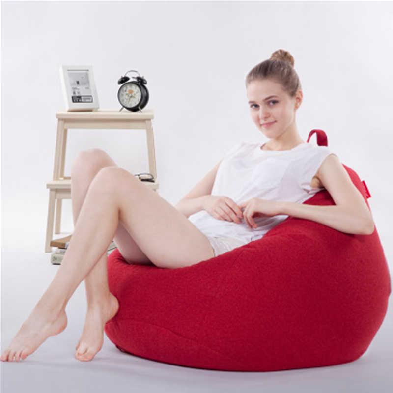 Removível e Lavável Sofá Do Saco de Feijão Cadeira Espreguiçadeira Sofá Tatami Beanbag Cadeira do Sofá Almofada Do Assento