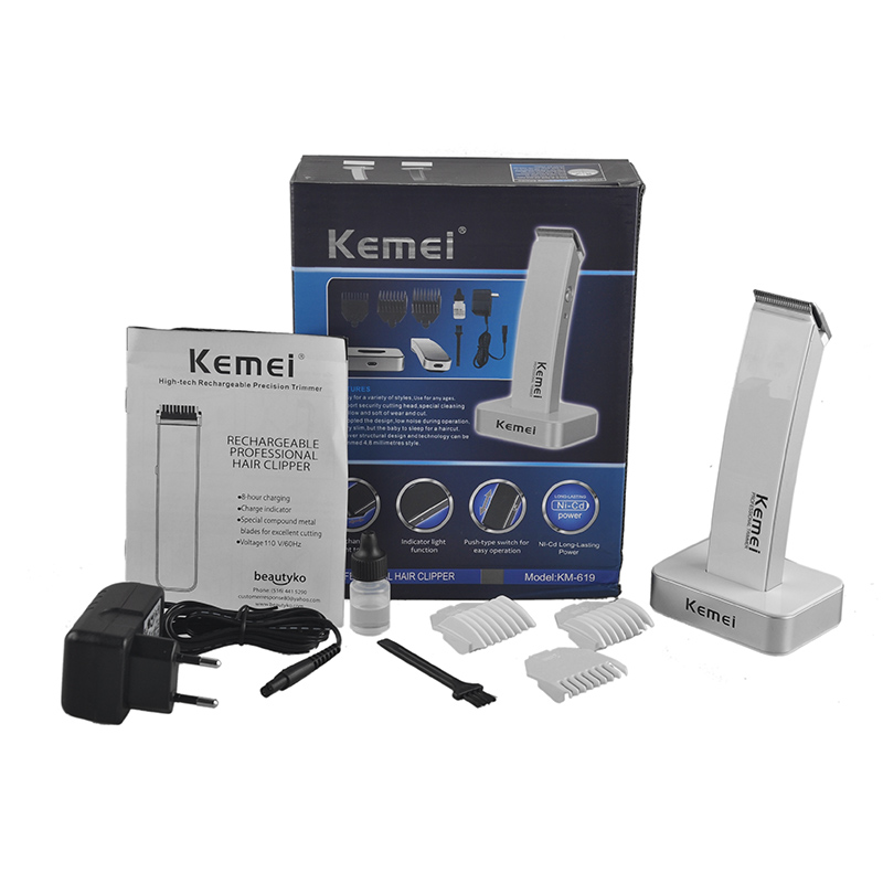 KEIMEI KM-619 Rechargeable Electric Hair Cipper Shaving Shaver Machine Razor Barber Cutting Beard Trimmer Haircut Set Cordless rechargeable hair cipper electric shaving machine razor barber cutting beard trimmer haircut machine cordless super slim body