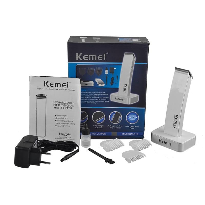 KEIMEI KM 619 Rechargeable Electric Hair Cipper Shaving Shaver Machine Razor Barber Cutting Beard Trimmer Haircut