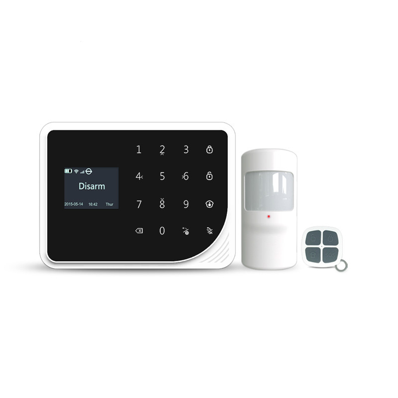 433mhz gsm wifi home alarm system touch LCD panel alarm system support doorbell function / GSM wireles alarm system купить в Москве 2019