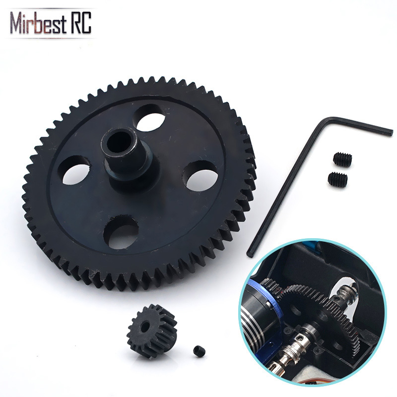 62T metal reduction gear 17T motor wave box set 0015 0088 RC car Patrs For WLtoys 12428 12423 12429 upgrade parts