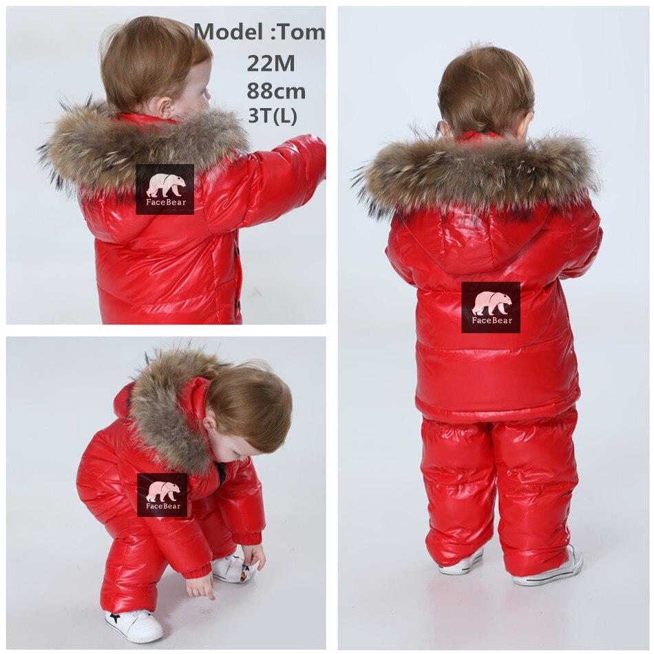2019 chaqueta de invierno parka para niñas niños abrigos 90% chaquetas ropa de los niños para la nieve niños abrigo y abrigos - 3
