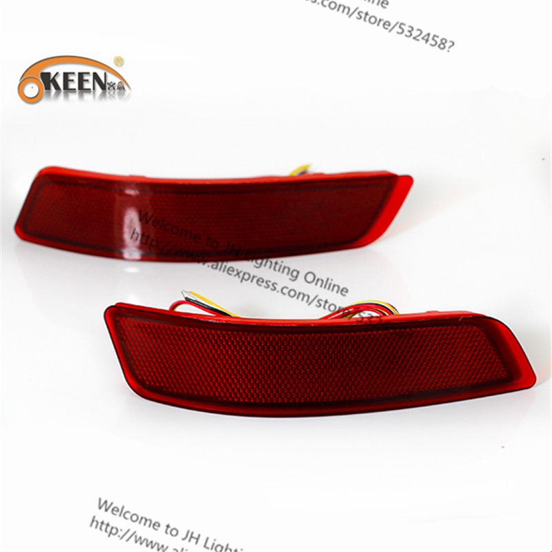 OKEEN Automobiles/ Motorcycle For toyota corolla led Tail Fog Lamp Car Fog Parking back Stop Brake Car LED Warning Light New
