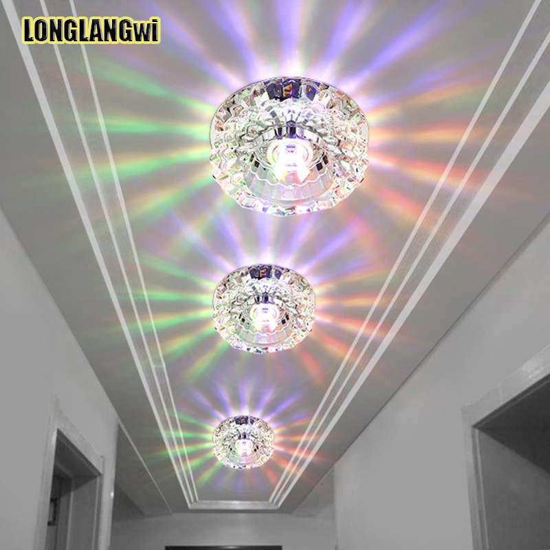 Crystal Light | Crystal Light Flavors | 3W Aisle led ceiling lamp living room crystal corridor aisle lights LED Ceiling Lights Luces de techo multiple Colour Colorful