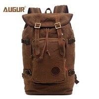 AUGUR New Fashion Men S Vintage Canvas Backpack For Teenage Girls School Bag Travel Large Capacity