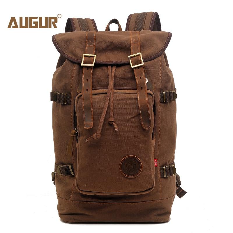 AUGUR New fashion men's vintage canvas backpack For Teenage Girls school bag travel large capacity laptop backpacks bags