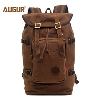 AUGUR New fashion men's vintage canvas backpack For Teenage Girls school bag travel large capacity laptop backpacks bags
