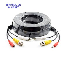 New CCTV Camera Accessories BNC Video RCA Audio Cable 12V DC Power Siamese Cable for Surveillance DVR Kit 5m 16.4ft CCTV Cable