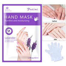 1Pack=2pcs Lavender Moisturizing Hand Mask Gloves Whitening Mask for Hand Care Remove Dead Skin Hand Skin Anti-Drying Spa Gloves