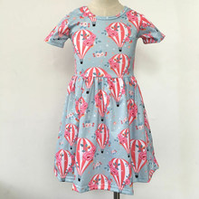 66e5aace9055e 2019 Europe and the United States hot summer new round neck short-sleeved  balloon print girl sweet A-line dress