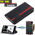 New For UMI London Case Ultra thin Leather Flip Back Case Cover For UMI London With Holder Stand Function