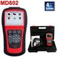 100% Оригинальный Autel MaxiDiag Elite MD802 4 Система MD701 + MD702 + MD703 + MD704 С Двигателем, Коробкой Передач, ABS и Подушки Безопасности Сканер Штрих-Кода