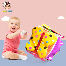 Happymaty Montessori Early Educational Toys Learn To Wear Clothes 6 Face Dressing Skills Button Sensory Training Parentchild Toy