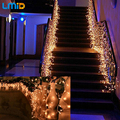 Holiday Lighting 4*0.6M Fairy Lights AC 220V Colorful Curtain String Garden Wedding Party Decoration LED Christmas Light Outdoor