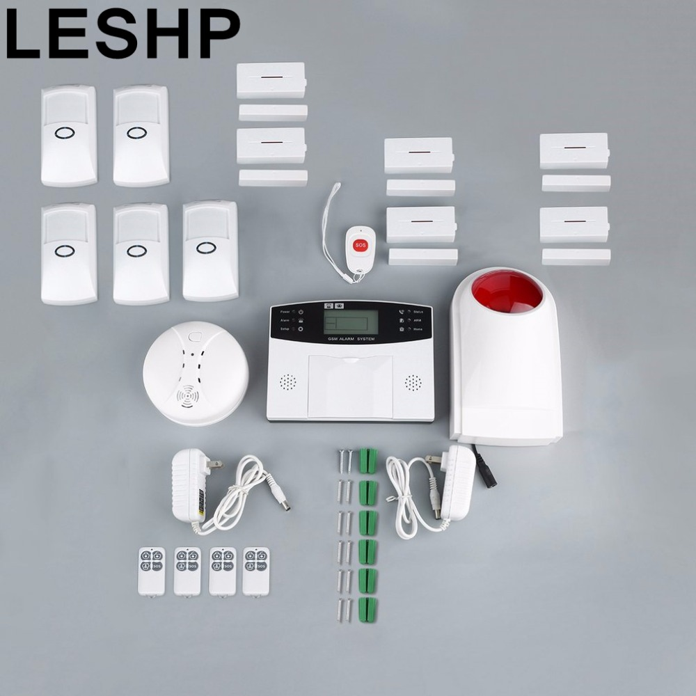 Home Burglar Security GSM Alarm System Voice Prompt Wireless Infrared Sensor Metal Remote Control Kit SIM SMS Alarm 433mhz dual network gsm pstn sms house burglar security alarm system fire smoke detector door window sensor kit remote control