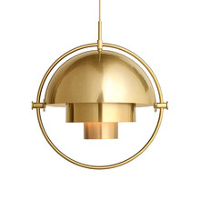 JAXLONG Modern Iron LED Pendant Lights Personality Restaurant Hanging Lamp Bedroom Semicircle Bedside Lustre Suspension Gallery