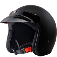 New style motorbike helmet Matte Black retro motorcycle helmet DOT SG standard open face moto helmet 3/4 casque moto jet