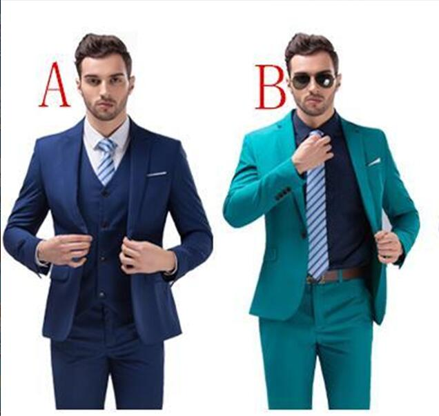 988d436af New homecoming suits Custom Made Notch Lapel One Button Groom ...