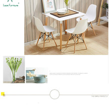 Louis Fashion Dining Chairs Moder Simple Lazy Students Desk Stools Home Economical Durable Woody European Comfortable