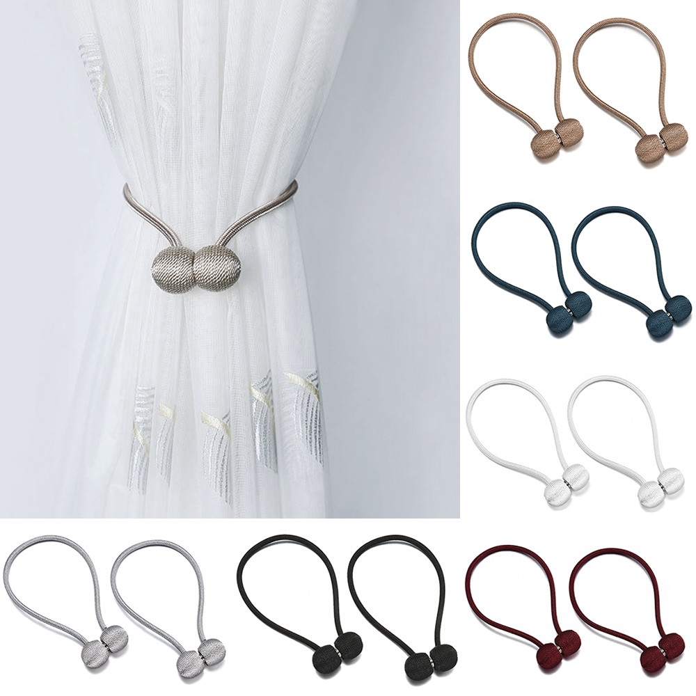 Hot Sale Curtain Buckle Magnetic Pearl Ball Curtain Tiebacks Tie Backs Holdbacks Buckle Clips Accessory Curtain Rods Accessoires