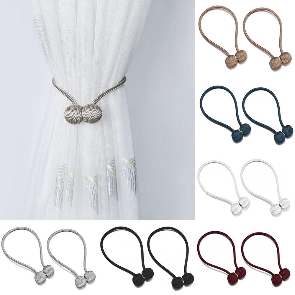 Hot Sale Curtain Buckle Magnetic Pearl Ball Curtain Tiebacks Tie Backs Holdbacks Buckle Clips Accessory Curtain Rods Accessoires