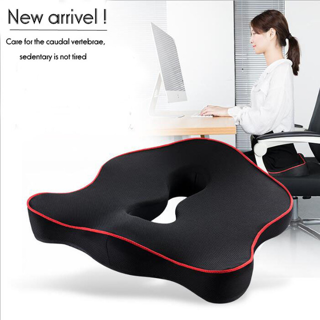 Premium Memory Foam Seat Cushion Coccyx Orthopedic Car Office Chair Pad For Tailbone Sciatica Lower Back Pain Relief