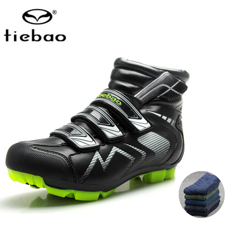 TIEBAO sapatilha ciclismo mtb Cycling Shoes For Women Men Winter Cycle socks 2018 mountain bike Self-locking Shoes Bicycle Boot outdoor eyewear glasses bicycle cycling sunglasses mtb mountain bike ciclismo oculos de sol for men women 5 lenses