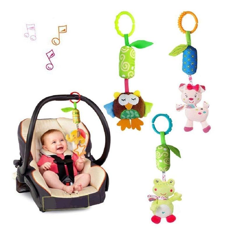 4/5Pcs Musical Baby Doll Rattle & Mobiles Set Stroller