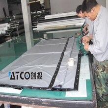 De haute qualité Grand écran 250 pouces 16:9 écran de projection 3D silver tissu sans cadre pour le cinéma Livraison Gratuite