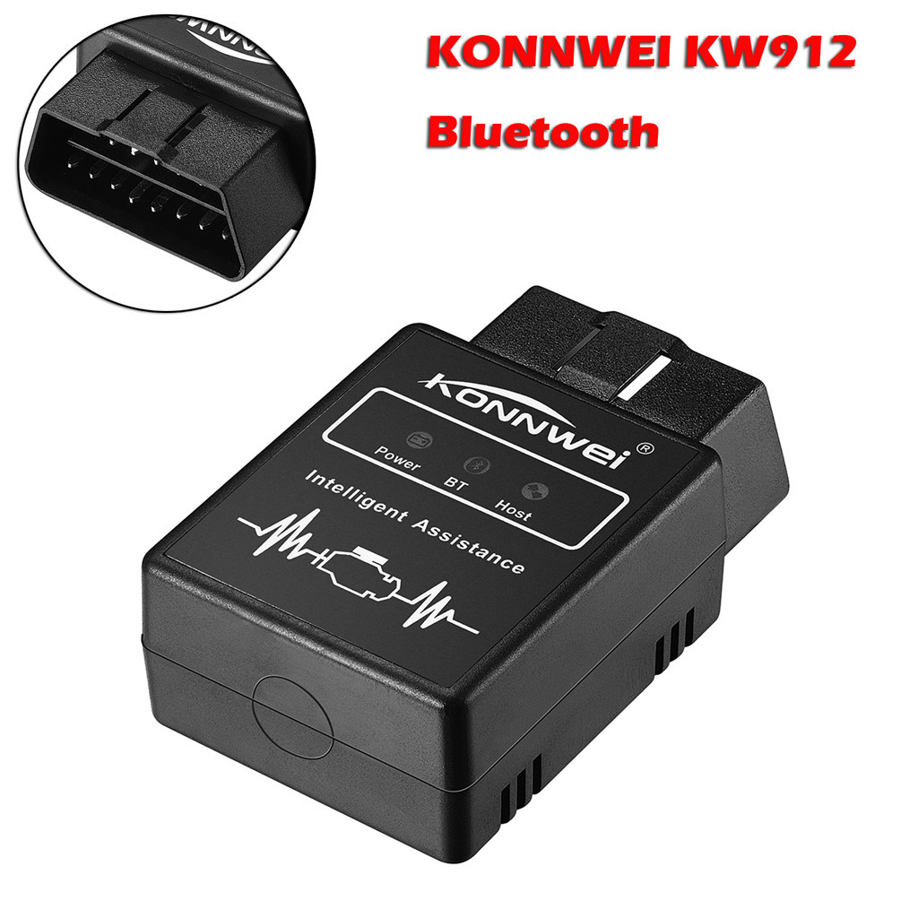 CARCHET 12V <font><b>Bluetooth</b></font> <font><b>Obd2</b></font> Scanner <font><b>Adapter</b></font> KW912 Code Reader <font><b>Scan</b></font> Tool <font><b>Automotive</b></font> Engine Fault <font><b>Scan</b></font> Diagnostic Tool for Android image