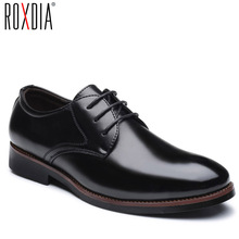ROXDIA mens dress shoes PU leather for man formal business work male men's oxford flats pointed toe RXM073 size 39-48