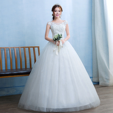 Fansmile Sexy Plus Size Vintage Lace Up Wedding Dress 2020 Bridal Ball Dress Wedding Gown Robe de Mariee Free Shipping FSM 053F