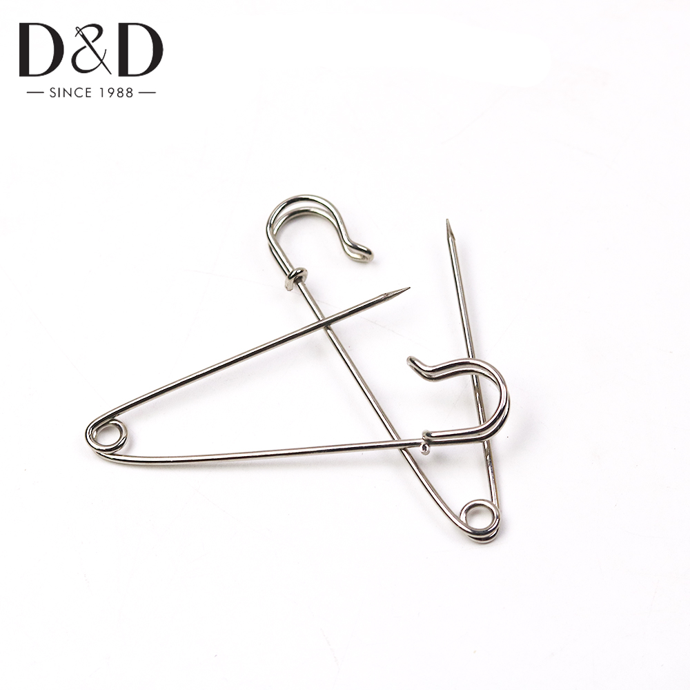 4pcs/pack Silver Tone Large Strong Safety Pins Findings DIY Sewing Tools Accessory Apparel Accessories