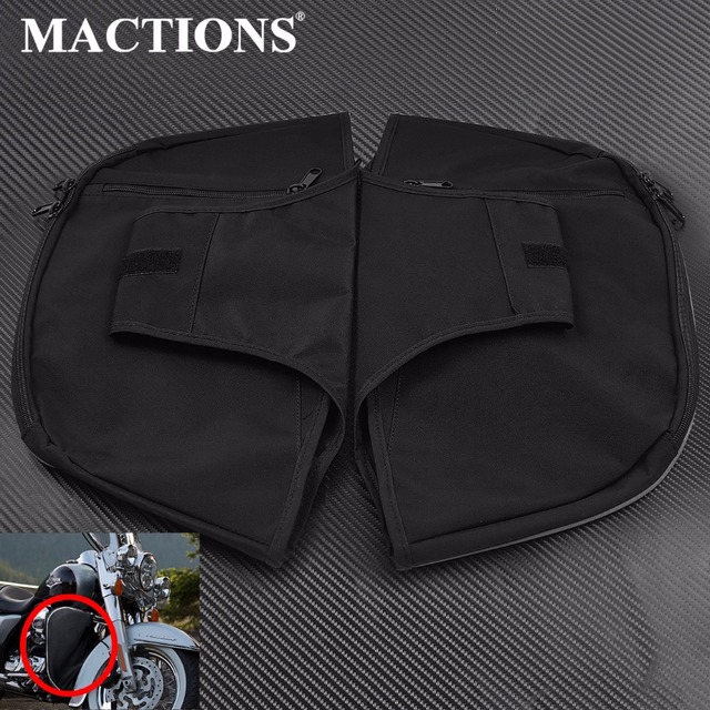 Motorcycle Black Warmer Chaps Soft Lowers Leg Elephant Ears For Harley Touring Road King Electra Street Trike FLHR 1980-17 2018