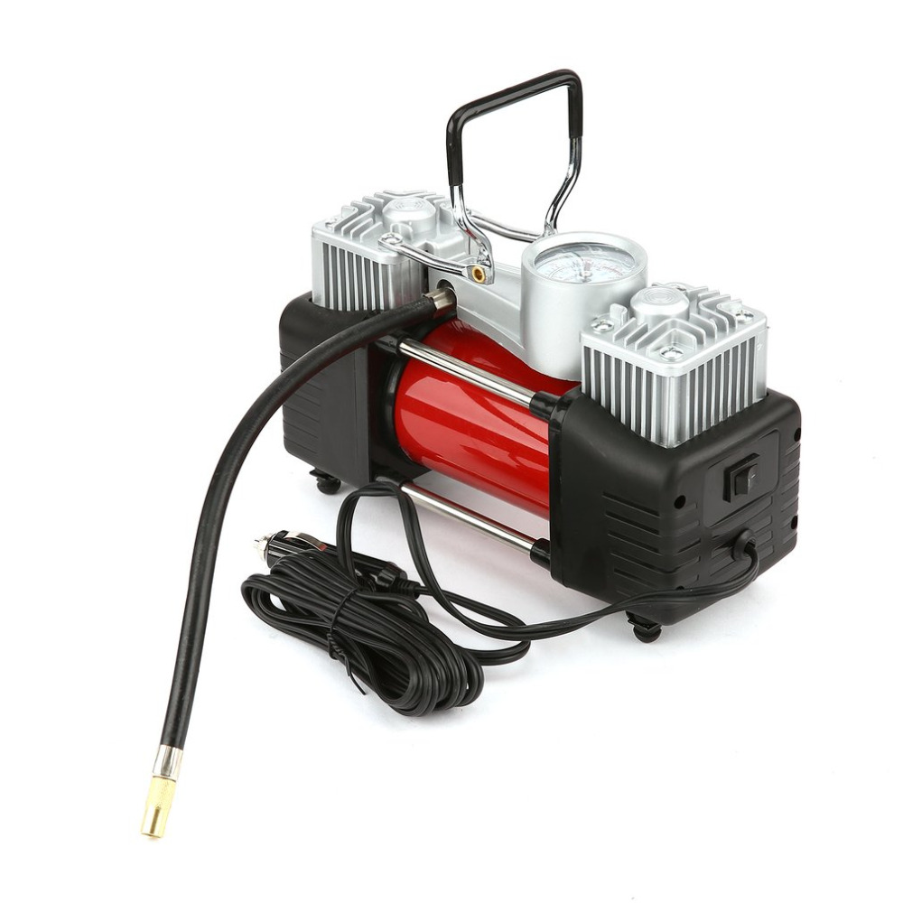 12V 150PSI Portable Emergency Heavy Duty 2 Cylinder Car Air Compressor Tire Inflator Pump Universal for Car Trucks Bicycle 12v 150psi portable heavy duty 2 cylinder car air compressor tire inflator pump universal for car trucks bicycle j35czq479