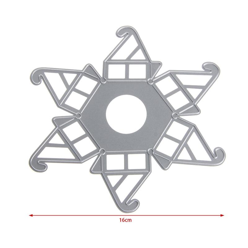 Caja Hexagonal Plantillas de Troqueles De Corte Estampado Tarjeta De ...
