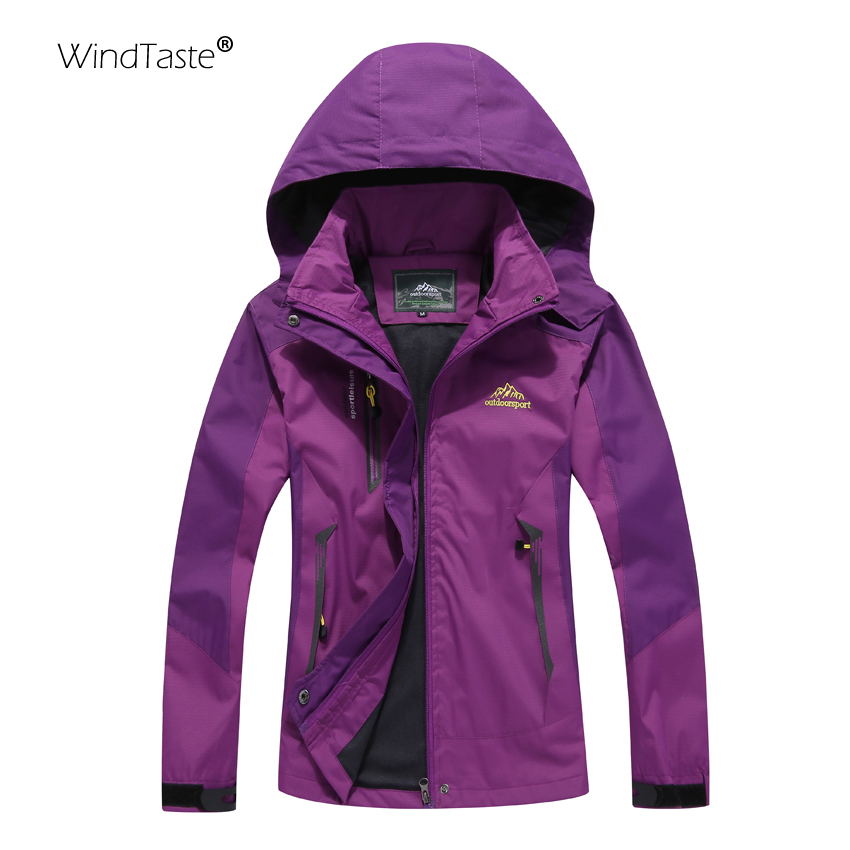 WindTaste Women's Windbreakers For Camping Hiking Trekking Climbing Waterproof Outdoor Jackets Female Spring Sports Coats KB003(China)