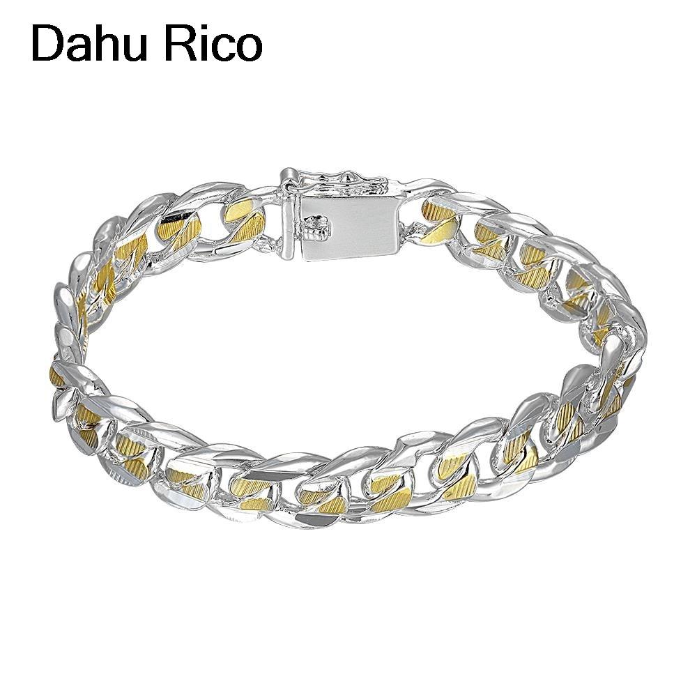 10mm men gelang jonc bracelet wedding damen para hombre fathers day srebro best selling 2018 products online Dahu Rico bracelets